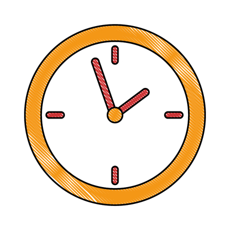 time clock isolated icon vector illustration design 版權商用圖片 - 91416507