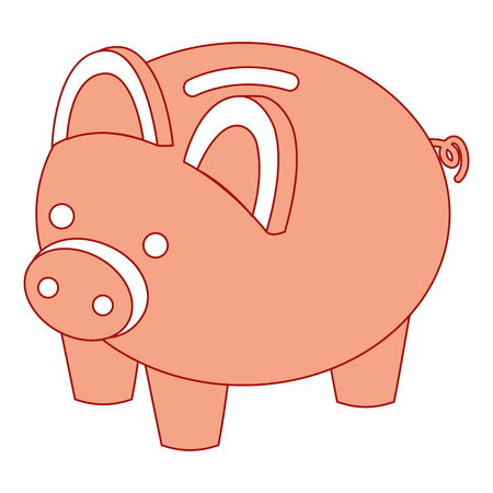 piggy bank security saving money isometric vector illustration pink design Reklamní fotografie - 91416554