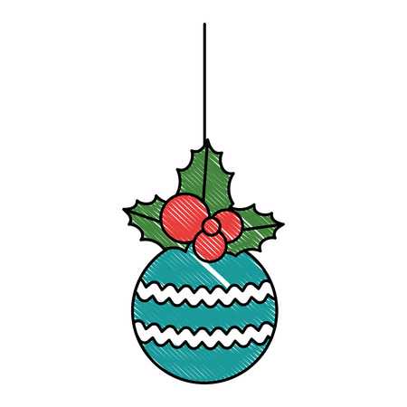 christmas ball hanging icon vector illustration design Stock Vector - 91425384