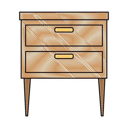 Progettazione dell'illustrazione di vettore dell'icona isolata cassetto dell'ufficio Archivio Fotografico - 91425460