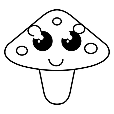 cute fungus character vector illustration design Illustration
