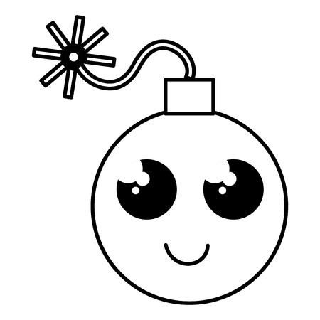 explosive bomb character vector illustration design Illustration