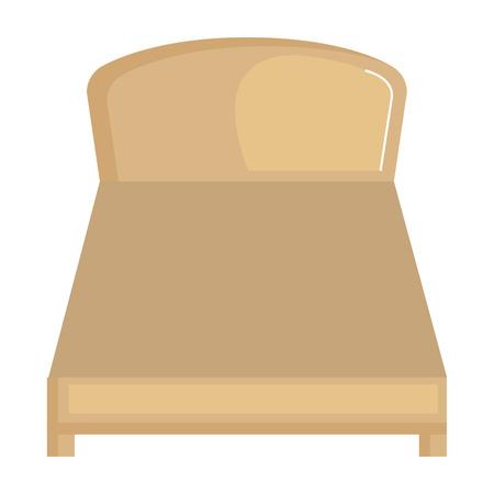 快適なベッド隔離アイコンベクトルイラストデザイン 写真素材 - 91416921