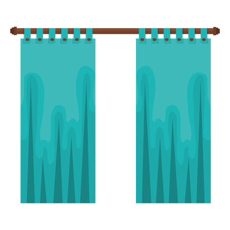 bedroom curtain isolated icon vector illustration design