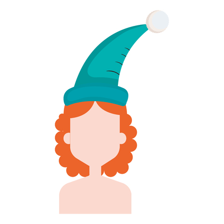 Donna con progettazione dell'illustrazione di vettore del cappello di sonno Archivio Fotografico - 91417079