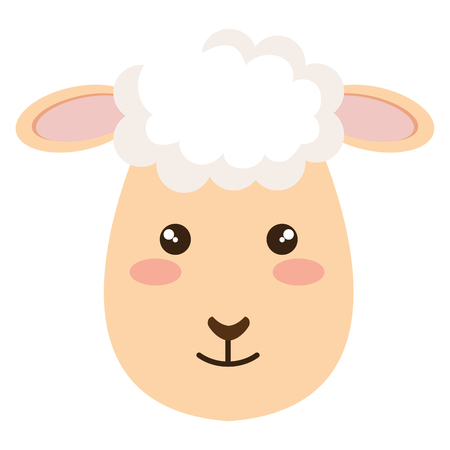 Sheep character icon illustration design. Ilustração