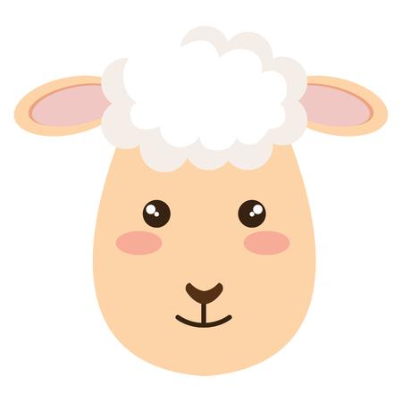 Sheep character icon illustration design. Illustration