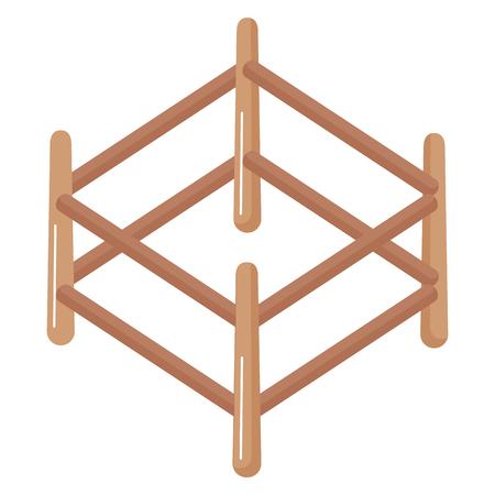 목조 목장 격리 아이콘 벡터 일러스트 디자인