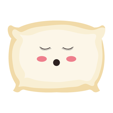 pillow bed character vector illustration design