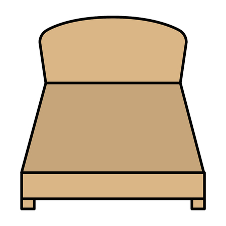 comfortable bed isolated icon vector illustration design  イラスト・ベクター素材