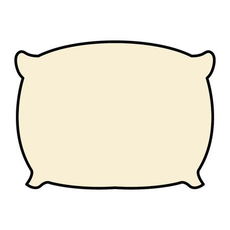 베개 침대 격리 된 아이콘 벡터 일러스트 레이 션 디자인