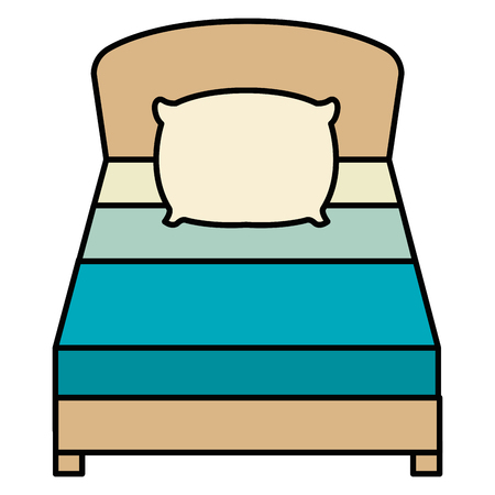 comfortable bed isolated icon vector illustration design Vectores