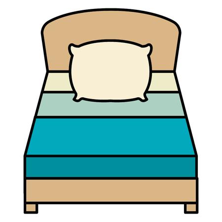 comfortable bed isolated icon vector illustration design Vettoriali