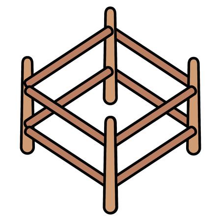 Boulier bois isolé icône du design d & # 39 ; illustration vectorielle Banque d'images - 91435727