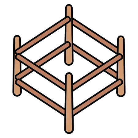 wooden corral isolated icon vector illustration design Ilustração