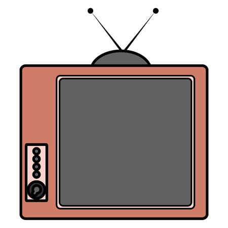 old tv isolated icon vector illustration design 版權商用圖片 - 91436382