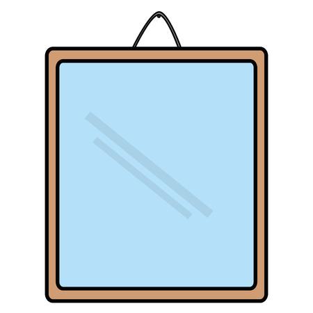 Miroir suspendus isolé icône du design illustration vectorielle Banque d'images - 91436384