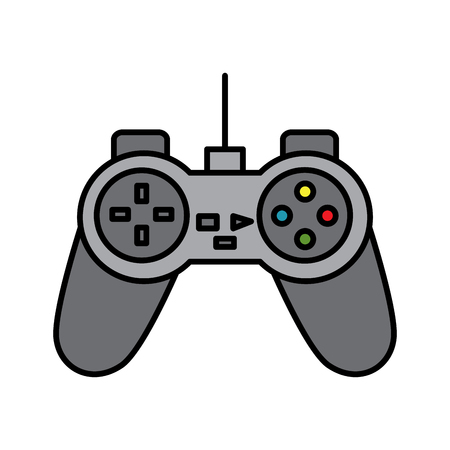 Video game console joystick control buttons vector illustration Ilustração
