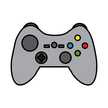 Ilustracja wektorowa przycisków sterowania joystickiem konsoli do gier wideo