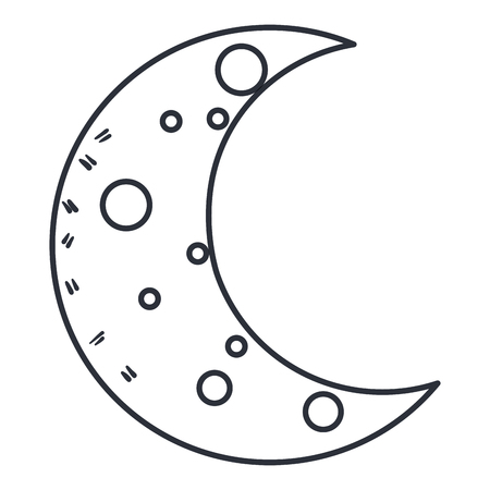 moon night isolated icon vector illustration design