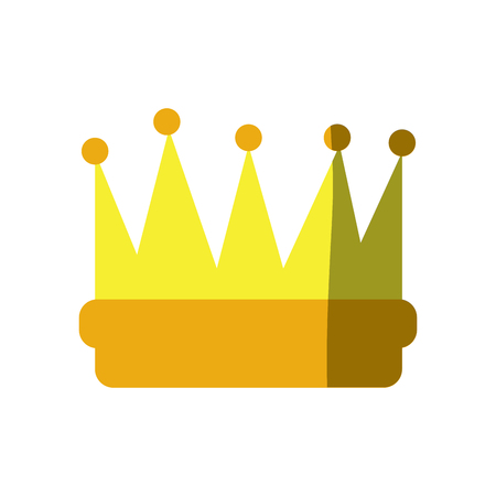 Symbol of king crown video game element graphic vector illustration shadow image Illustration