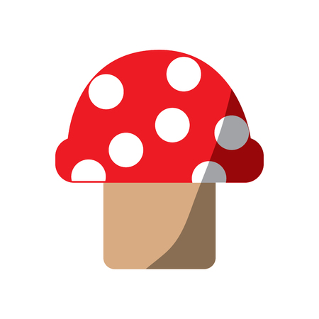 Video game mushroom entertaining element play vector illustration shadow image Illustration