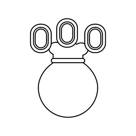 video game money bag coins fortune vector illustration outline image Ilustração
