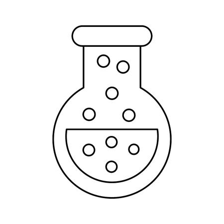 Video Game Flask Potion Elixir Power Vector Illustration Outline - Game outline