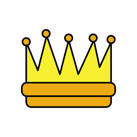 symbol of king crown video game element graphic vector illustration