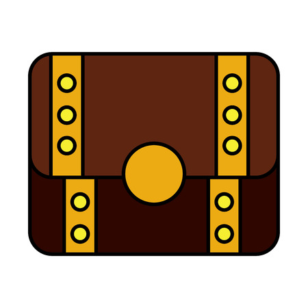 Video game treasure chest fortune vector illustration