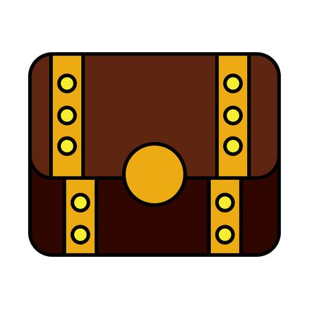 Video game treasure chest fortune vector illustration