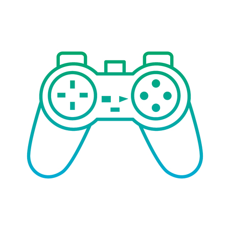 video game console joystick control buttons vector illustration