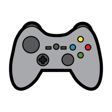 비디오 게임 콘솔 조이스틱 컨트롤 단추 벡터 일러스트 레이션