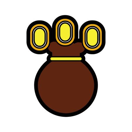 ビデオゲームマネーバッグコイン占いベクトルイラスト  イラスト・ベクター素材