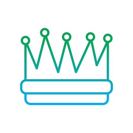 symbool van koning kroon video game element grafische vector illustratie