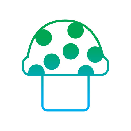 video game mushroom entertaining element play vector illustration