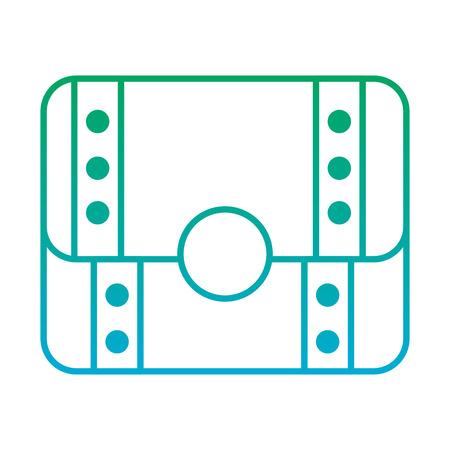 video game treasure chest scene vector illustration