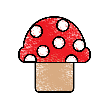 Video game mushroom entertaining element play vector illustration drawing
