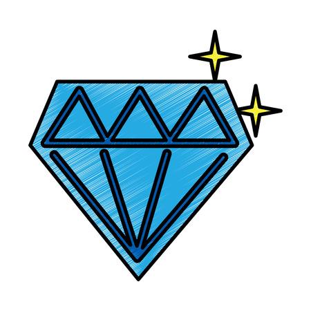 비디오 게임 다이아몬드 복고풍 디자인 벡터 일러스트 그리기