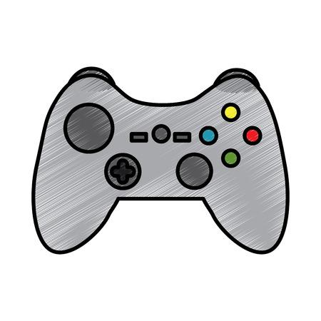 console vidéo joystick joystick contrôle boutons illustration vectorielle . tableau