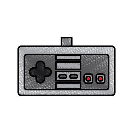 비디오 게임 콘솔 조이스틱 컨트롤 단추 벡터 그림 그리기. 일러스트