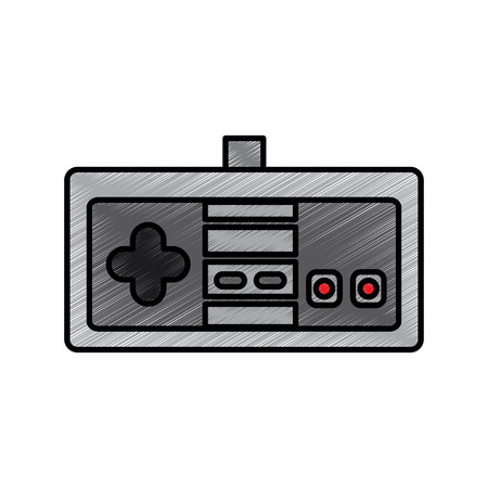 Video game console joystick control buttons vector illustration drawing.