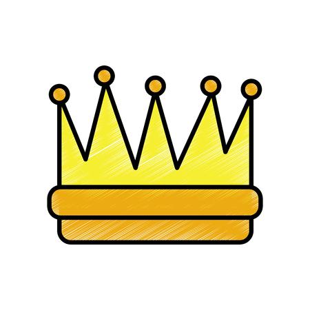 Desenho da coroa Foto de archivo - 91421159