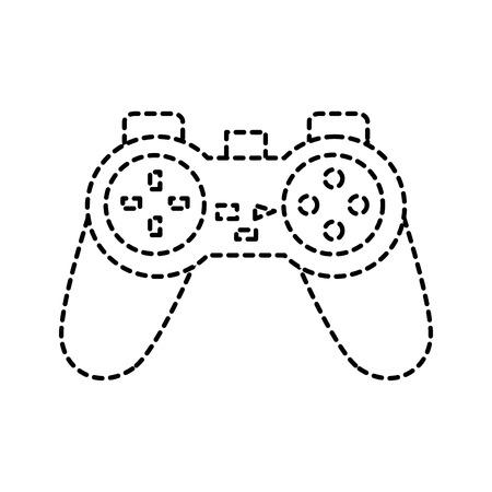 벡터 일러스트 레이 션 파산 라인에서 비디오 게임 콘솔 조이스틱 컨트롤 버튼 스톡 콘텐츠 - 91420111