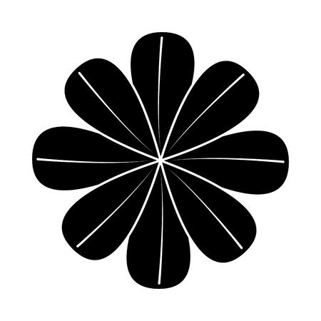 One flower natural floral decoration ornament vector illustration