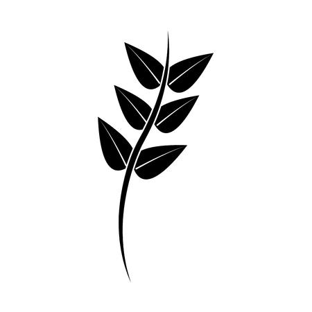Floral décoratif branche branche icône illustration . Banque d'images - 91423189