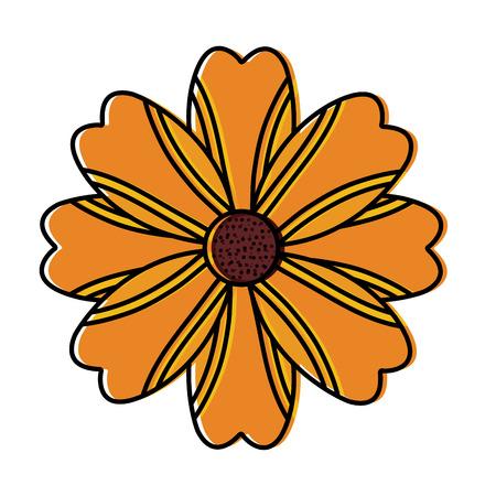 one flower natural floral decoration ornament vector illustration Иллюстрация