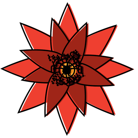 one flower natural floral decoration ornament vector illustration Illusztráció