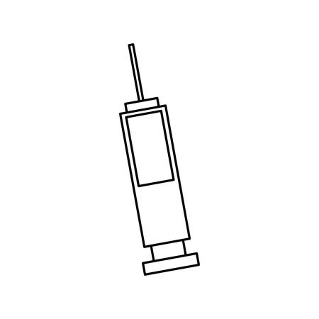 medical syringe medicine vaccine healthcare vector illustration outline image Ilustrace