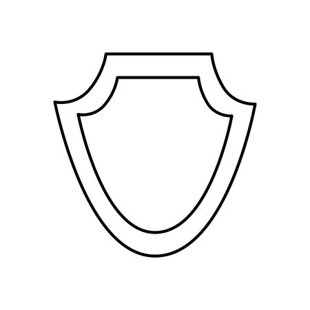 シールド保護エンブレム 空のアイコンベクトルイラストアウトライン画像  イラスト・ベクター素材